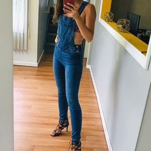 Skinny fit denim overalls XS